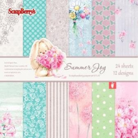 ScrapBerry's Summer Joy Paper Set 6x6 Inch 170gsm