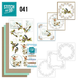 STDO041 - Stitch and Do 41 - Kerstvogeltjes