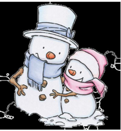 C.C. Designs - Rustic Sugar Snow Couple RS10
