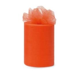 Tule 15 cm breed oranje