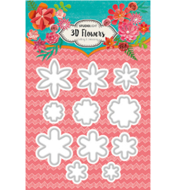 Studio Light - STENCILSL95 - Embossing Die Cut Stencil 3D Flowers nr.95