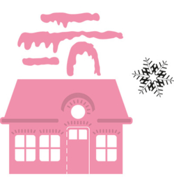 Marianne Design COL1327 Christmas village (laag)
