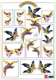 Marianne Design Birds Gold IT557