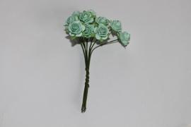 Bloemen groen-blauw 1
