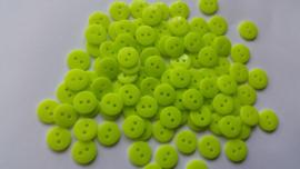 Lime groene knoopjes 10 stuks 11mm