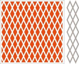Marianne Design DF3410 - Embossing folder + die Diamonds