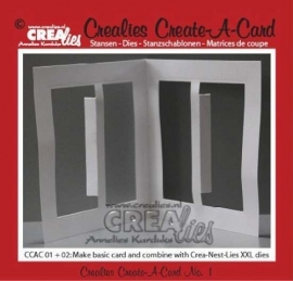 Crealies - Create A Card stans no. 1 - CCA01 - 115634/0501