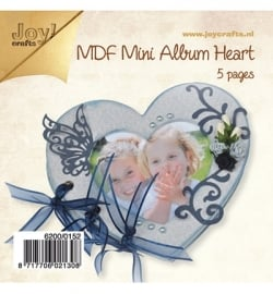 Joy!Crafts 6200/0152 MDF - mini album HART