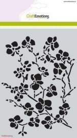 CraftEmotions stencil Orchidee tak  185070/1236