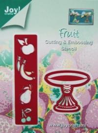 6002/0129 Fruitschaal hoog + appel
