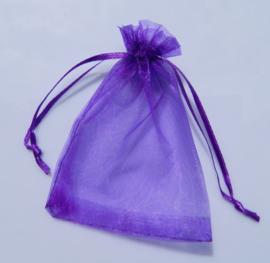 Organza zakjes lila/paars 7x9cm - 10 stuks