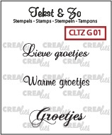 Crealies - Tekst & Zo stempels Groetjes CLTZG01 130505/1801