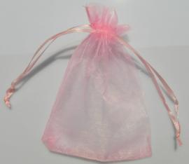 Organza zakjes roze 7x9cm - 10 stuks