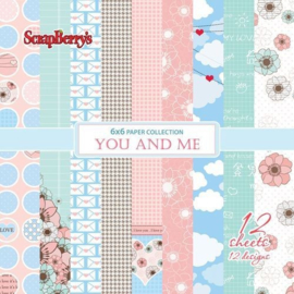 ScrapBerry's You and Me Paper Set 6x6 Inch 190gsm