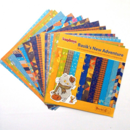 ScrapBerry's Basik's New Adventure Paper Set 6x6 Inch 170gsm