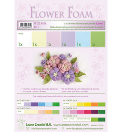 Leane Creatief flower foam 254056 - Set 1 Pastel Colours