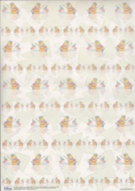 Disney - Vellum - vellumpooh10 Winnie en Knorretje vissen en kerstbomen
