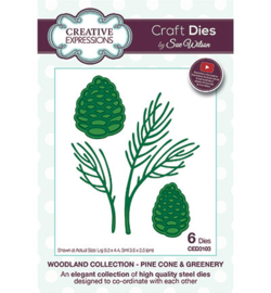 Creative Expressions CED3103 	Pine Cone & Greenery