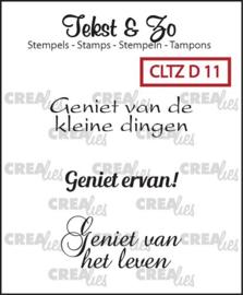 Crealies - Tekst & Zo stempels diversen CLTZD11 130505/1711