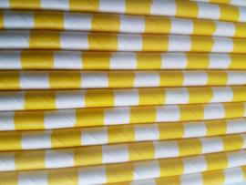 Rietjes 25 stuks  Streepjes geel