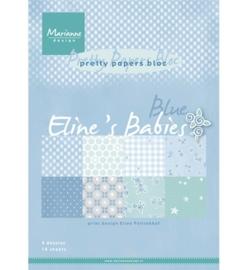 Marianne Design - Pretty Papers - A4 - PK7049 Eline's Babies blue
