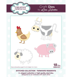 Creative Expressions - CEDLH1017 - Stitched Collection Farmyard Residents