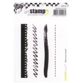Carabelle Studio SA70112 A7 Cling Stamp - Dans Mon Carnet