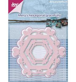 6002/0658 Mery's zeshoekig sierlijke stencil