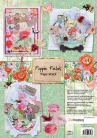 CraftEmotions paperpack-Poppie Fields A4