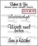 Crealies - Tekst&Zo Beterschap 1 CLTZBE01