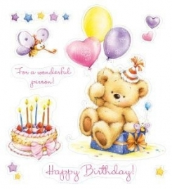 ScrapBerry's clearstempelset-My Little Bear/Birthday Party SCB071206b