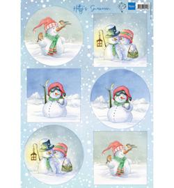 Marianne Design HK1705 - Hetty's snowmen
