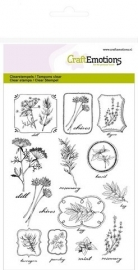 CraftEmotions 130501/1236  clearstamps A6 - kruiden labels Life and Garden