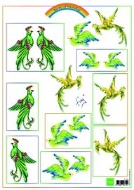Marianne Design Birds Green IT556