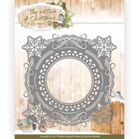 Precious Marieke - PM10097 - The nature of Christmas - Christmas Snowflake Frame
