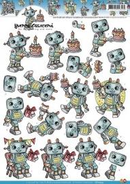 Yvonne Creations - CD10334  3D Knipvel - Robots