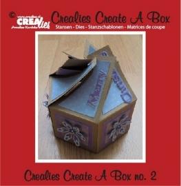 Crealies - Create A Box no. 2 6-kantig doosje - CCAB02 - 115634/2002