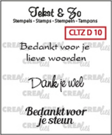 Crealies - Tekst & Zo stempels  diversen CLTZD10 130505/1710