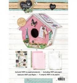 Studio Light - MDFLH42 Birdhouse MDF Pakket incl.papier