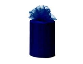 Tule 15 cm breed donkerblauw