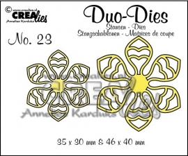 Crealies Duo Dies no. 23 Bloemen
