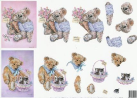 99091/06 Meadow Cottage Bears