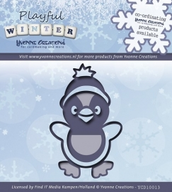 Yvonne Creations - YCD10013  Die - Playful Winter - Pinquin