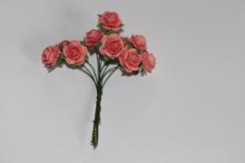 Bloemen koraal roze 3