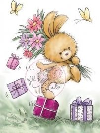 Wild Rose Studio Clearstamp CL292 Bunny Hopping