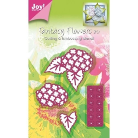6002/0182 Mery Stans Fantasy Flowers 3D bloem-opbouw