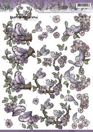 Yvonne Creations - CD10628  3D Knipvel - Vogeltjes