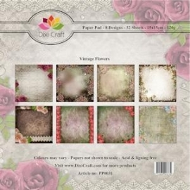 Dixi Craft - Paper Pack Vintage Flowers PP0031