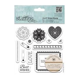 PMA 907223  5 x 5 Urban Stamp (14pcs) - Craft Collection - Pastels