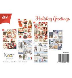 Joy!Crafts 6013/0343 Knipvellen set Holiday greetings